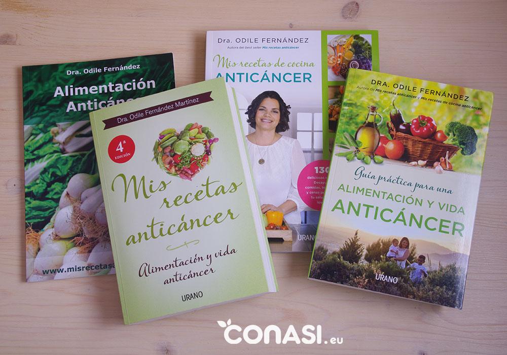 Los 4 libros de la Dra Odile Fernández