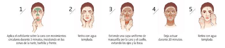 como aplicar la mascarilla facial