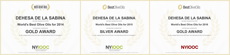 Premios Aceite Dehesa de la Sabina