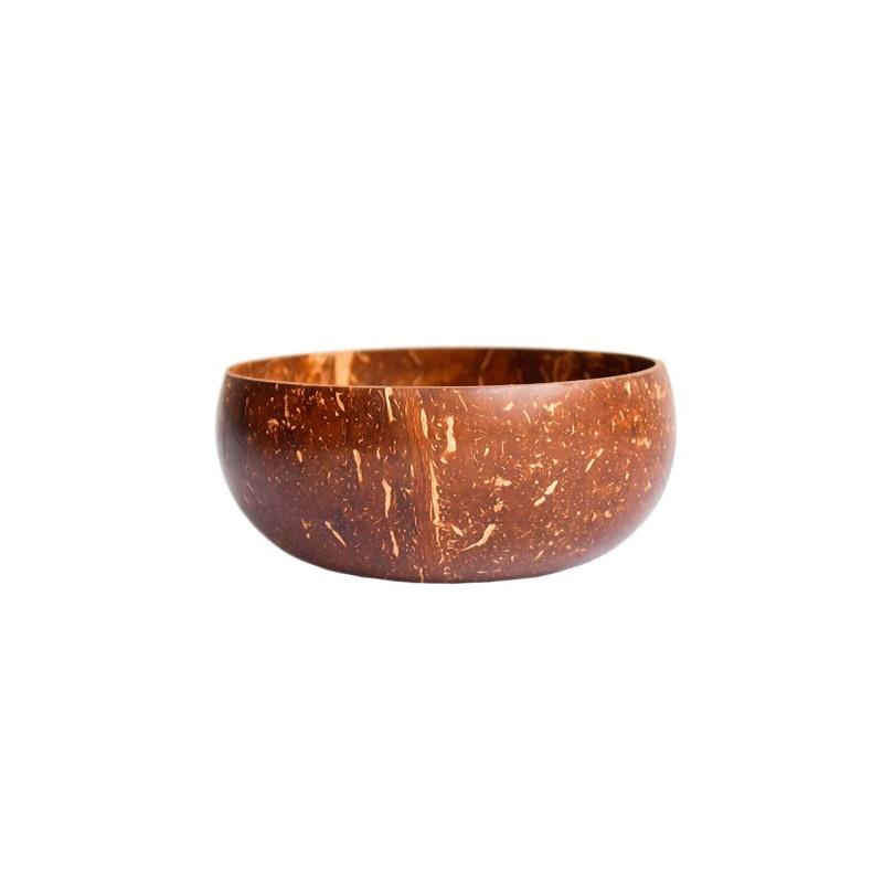Bol de coco natural pulido - 12 cm