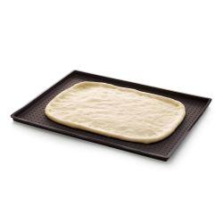 Molde perforado de silicona platino para pizzas, rectangular - Lekue