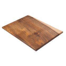 Tabla de cocina de madera maciza de nogal a veta