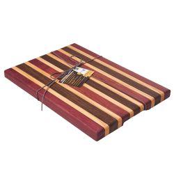 """Tabla de cocina de 3 maderas macizas """"Tricolor"""""""