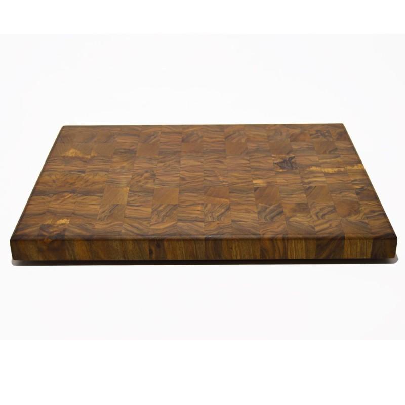 Tabla de cocina de madera maciza de nogal a testa