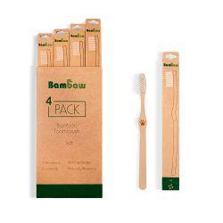 Cepillo de dientes de bambú, suave - Bambaw