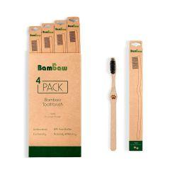 Cepillo de dientes de bambú, cerdas duras y con carbón activo - Bambaw