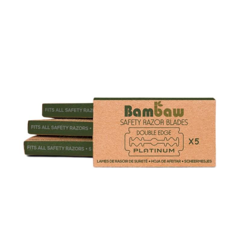 Pack 5 cuchillas de afeitar clásicas - Bambaw