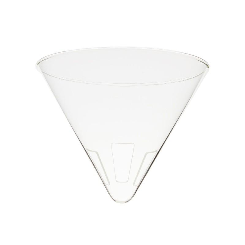 Soporte de cristal Pour Over L para filtro de café