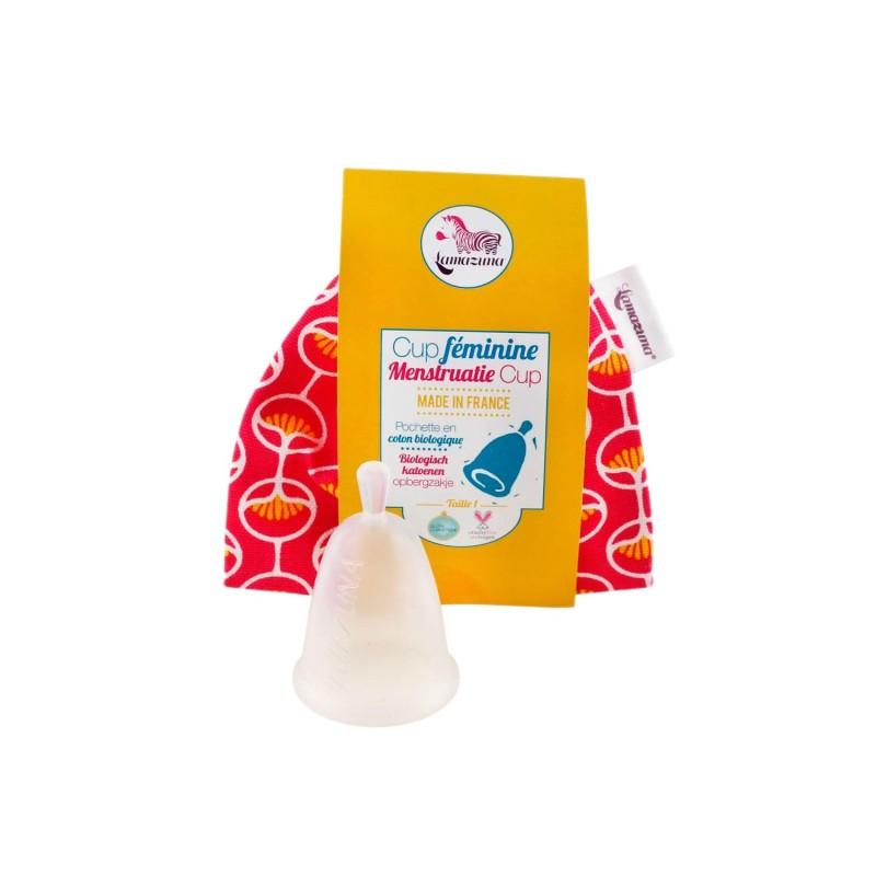 Copa menstrual de silicona platino - Talla 1