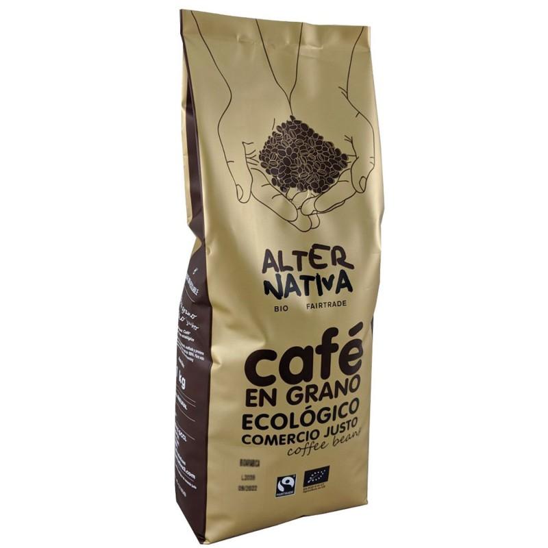 Café ecológico en grano descafeinado - 1 kg