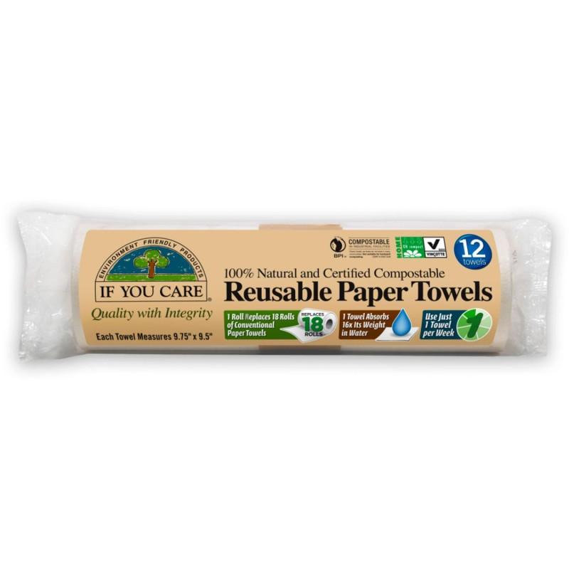 Bayeta de papel reusable - If you care