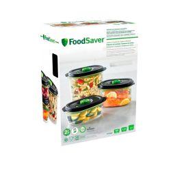 Pack 3 contenedores para envasar al vacío - Foodsaver