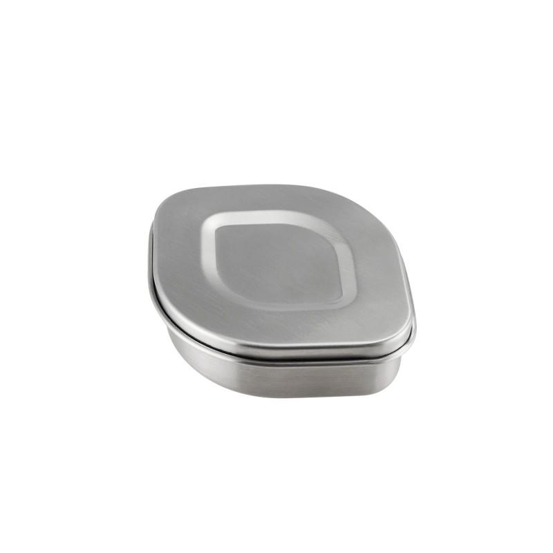 Contenedor ovalado de acero inoxidable Lurch - 350 ml