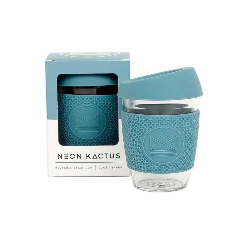 Taza de cristal para llevar Azul - 340 ml