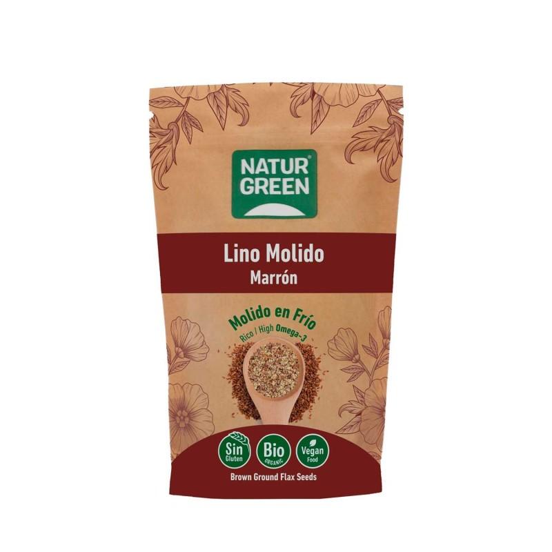 Semillas de lino marrón molidas ecológicas - Naturgreen