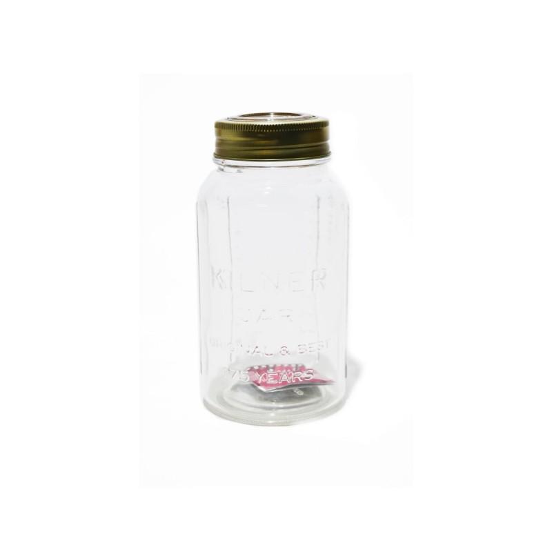 Tarro de cristal 750 ml, con tapa hermética de cristal Kilner -Outlet