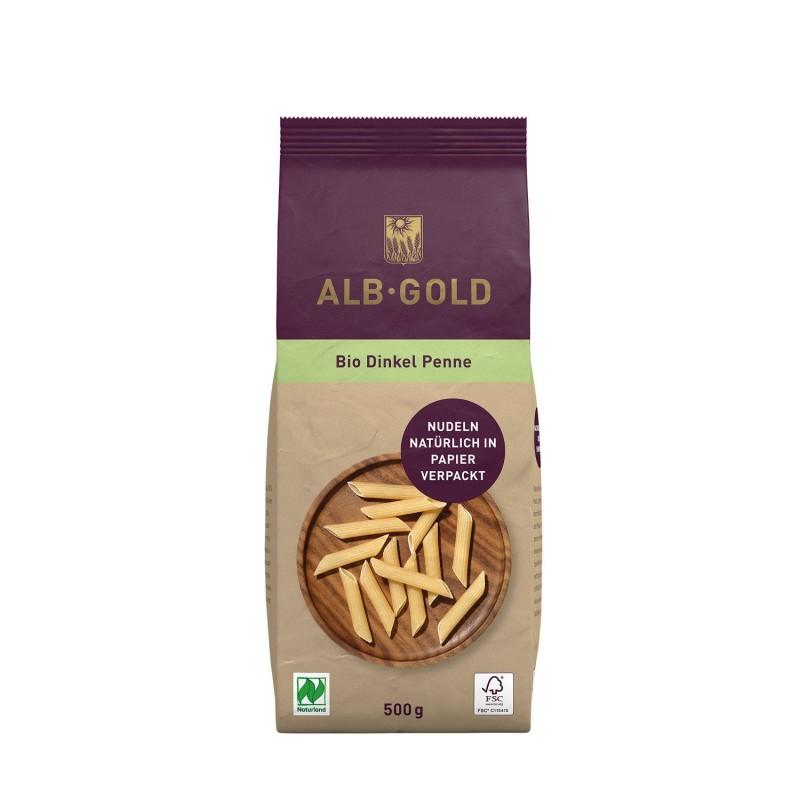 Macarrones ecológicos de espelta, 500g - Alb Gold