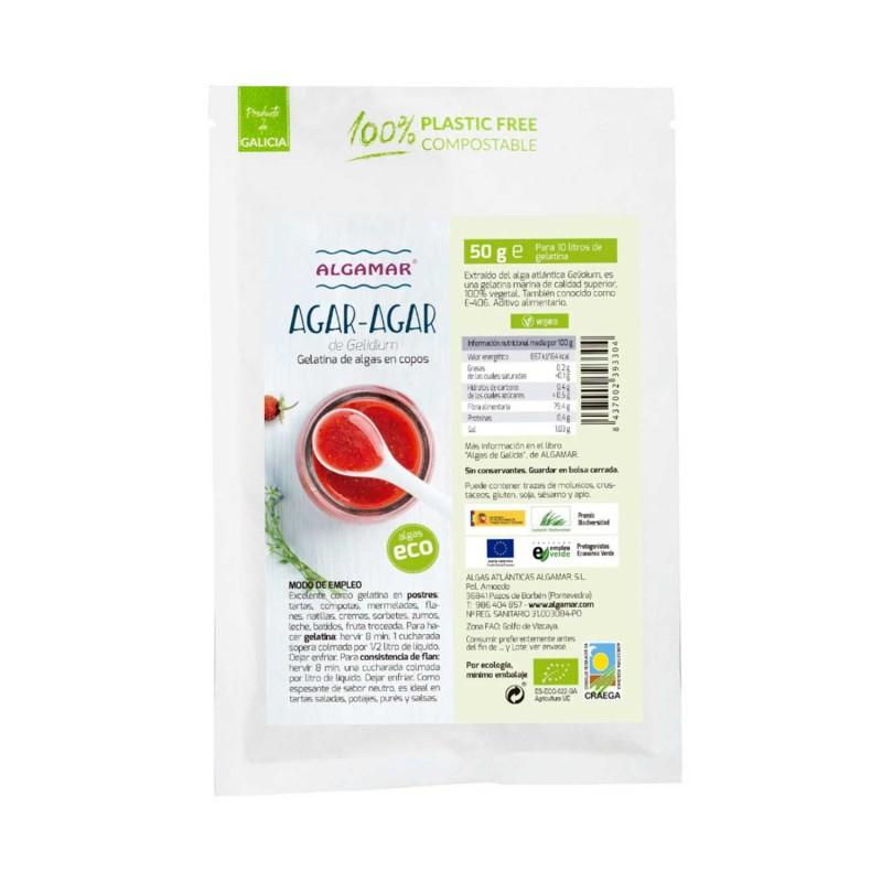 Alga agar-agar ecológica en copos