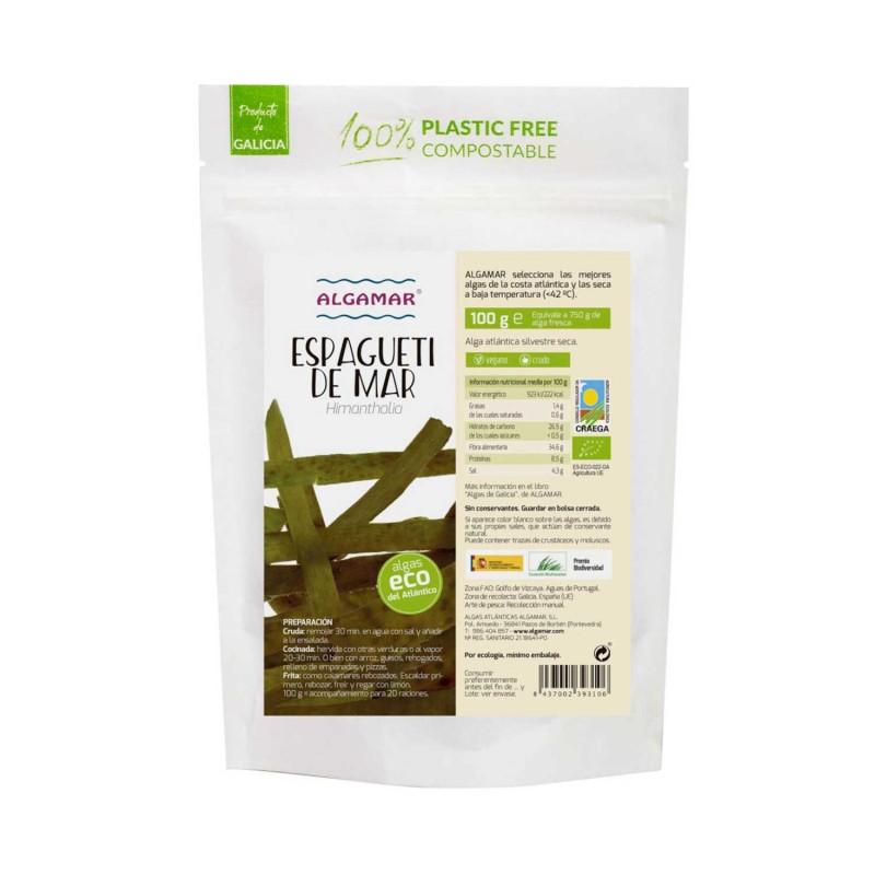 Alga espagueti de mar ecológica
