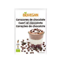Corazones de chocolate, ecológicos - Biovegan