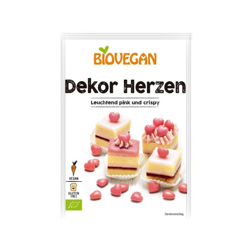 Corazones rojos, ecológicos - Biovegan
