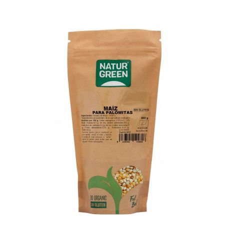 Maíz para palomitas ecológico, 450 g - Naturgreen