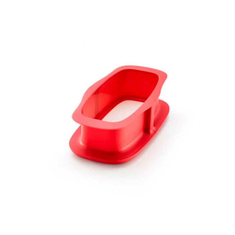Molde rectangular desmontable de silicona con base cerámica, 24 cm