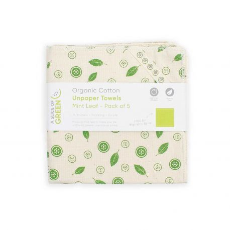 Pack 5 paños de algodón orgánico - A Slice of Green