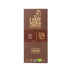 Chocolate crudo ecológico 93%, con azúcar de coco