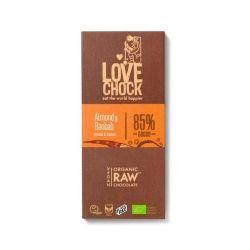 Chocolate crudo ecológico 85%, con almendra, baobab y azúcar de coco