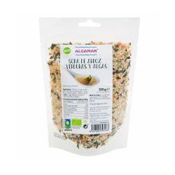 Sopa instántanea de arroz, verduras y alga wakame - Algamar