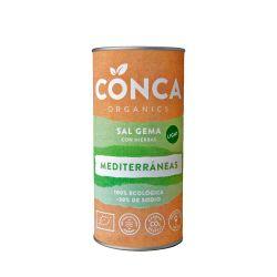 Sal gema con hierbas mediterráneas, 30% menos de sodio - Conca Organics