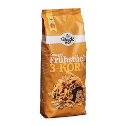 Muesli crujiente de tres cereales ecológicos - Bauckhof
