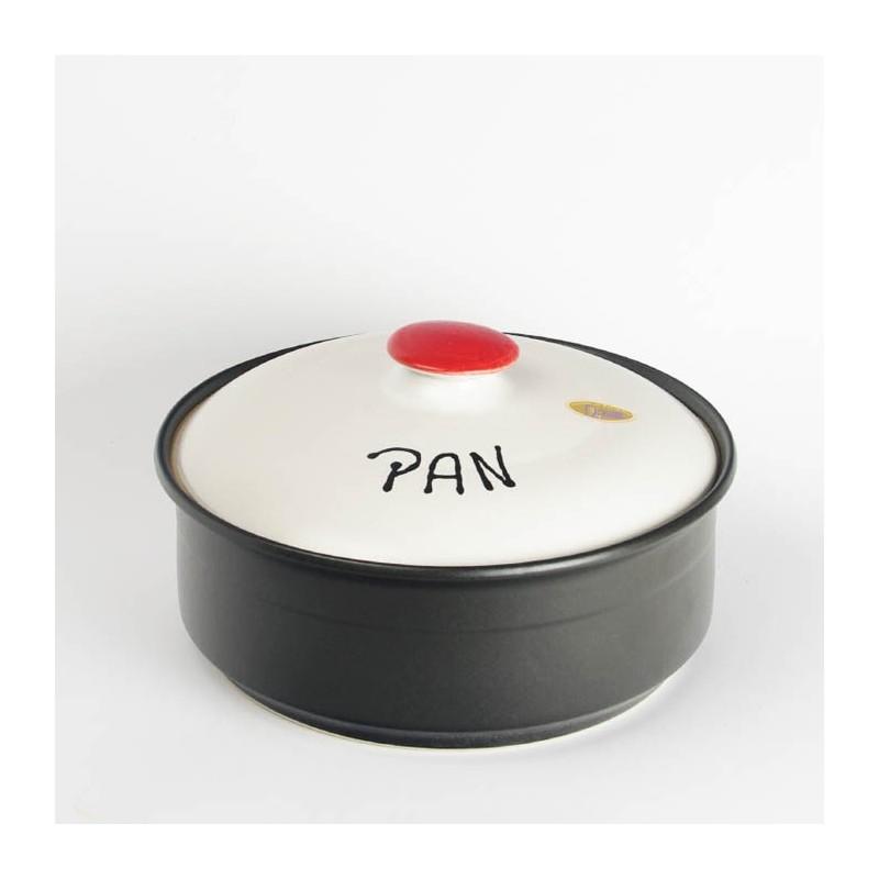 Panera de cerámica - modelo redondo Punti