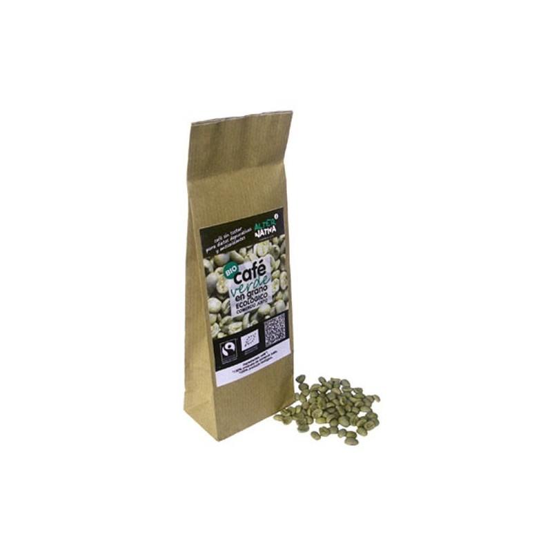 Café verde ecológico en grano