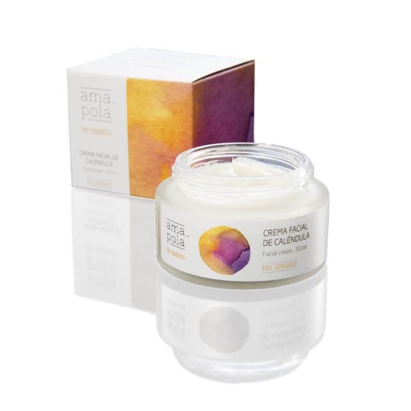 Crema facial de caléndula - cosmética natural