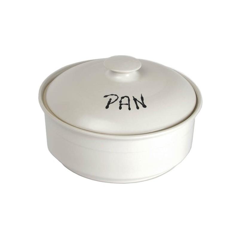 Panera de cerámica - redonda baja Blanca