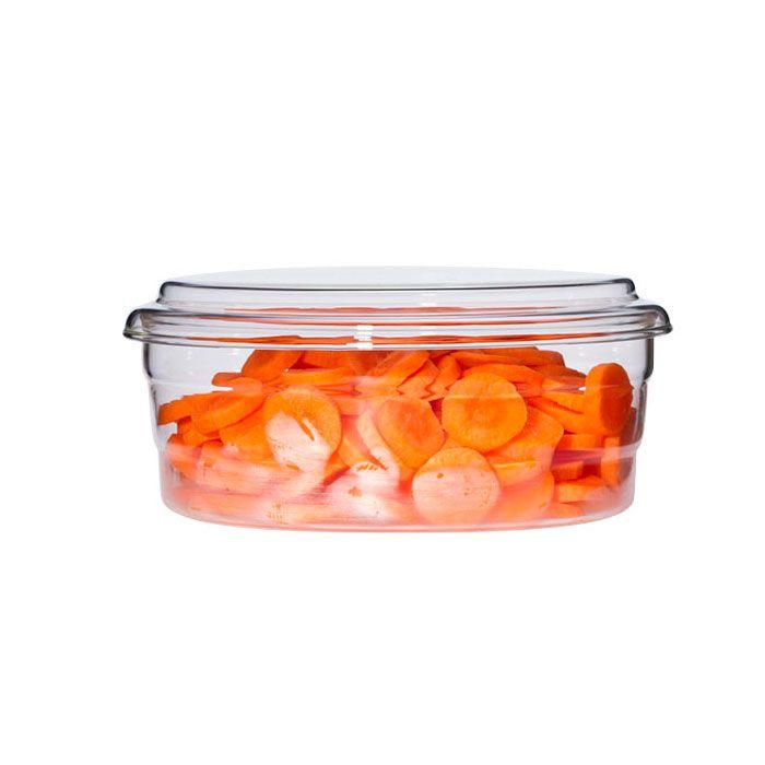 recipiente de cristal con tapa mediano