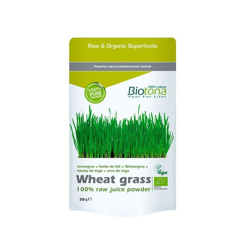 Jugo de hierba de trigo en polvo
