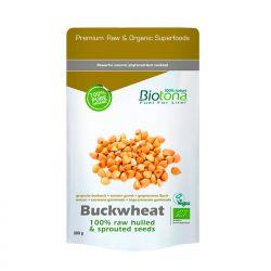 Semillas de trigo sarraceno germinadas