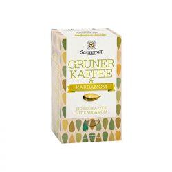 Café verde crudo con cardamomo, en bolsitas