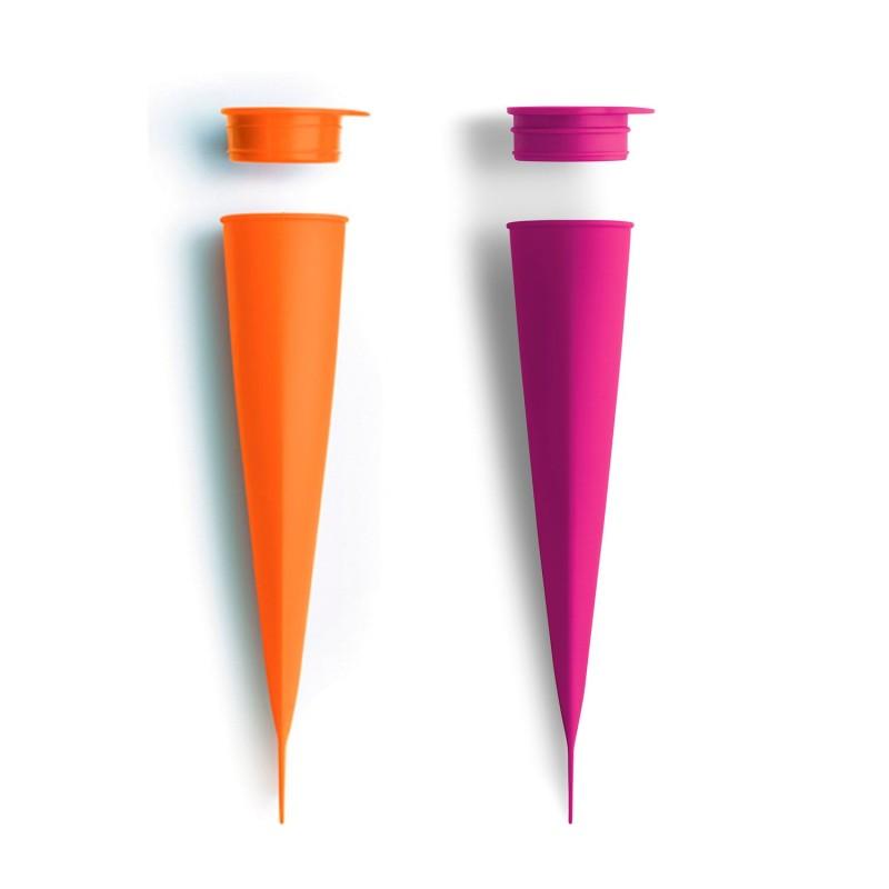 Molde de silicona para helados - Cono naranja/morado