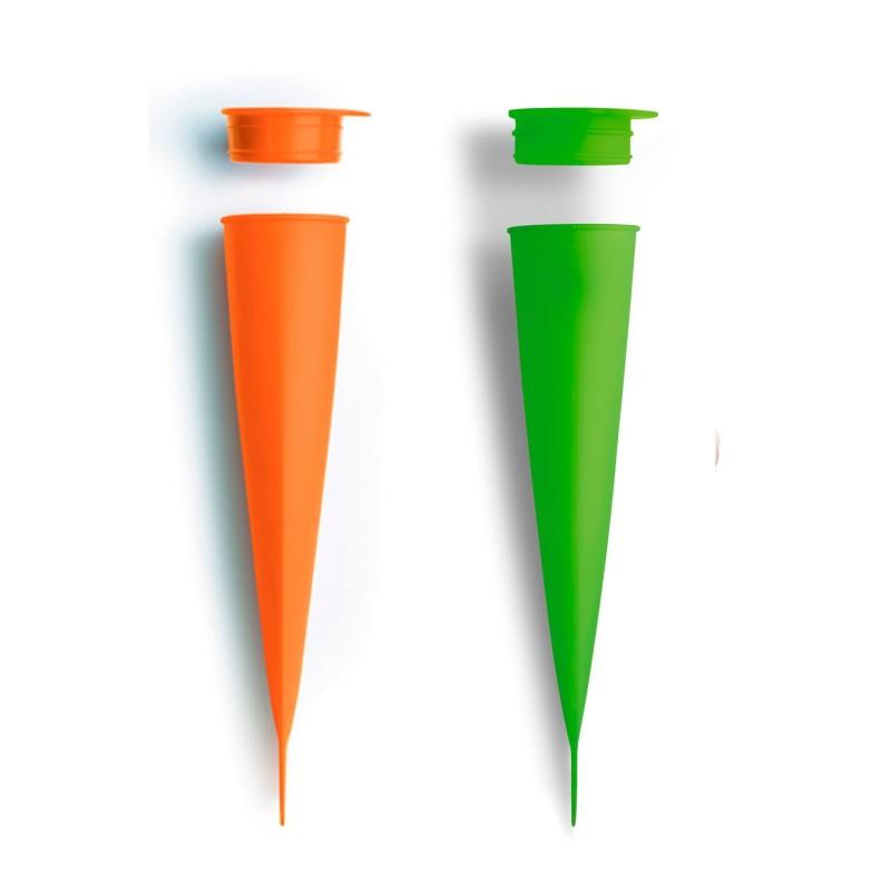Molde de silicona para helados - Cono naranja/verde
