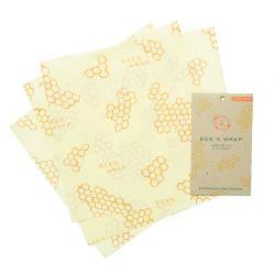 Bee's Wrap envoltorio de cera de abeja - 3 u. Grande, modelo panal