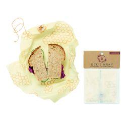 Bee's Wrap envoltorio de cera de abeja sándwich, modelo panal
