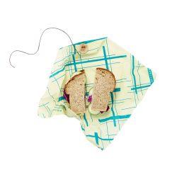 Bee's Wrap envoltorio de cera de abeja sandwich, modelo rayas