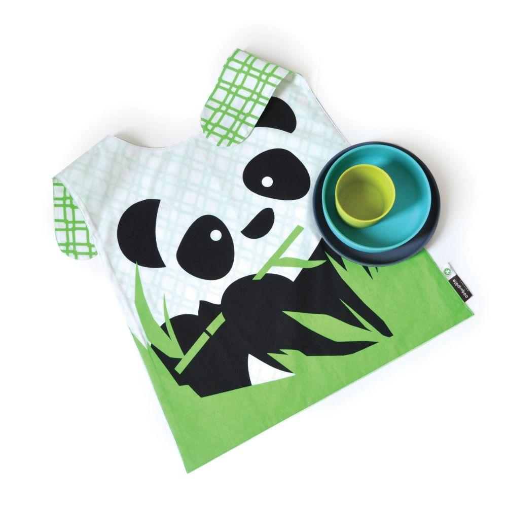 Set panda vajilla de bamb babero ekobo - Vajilla bambu ...