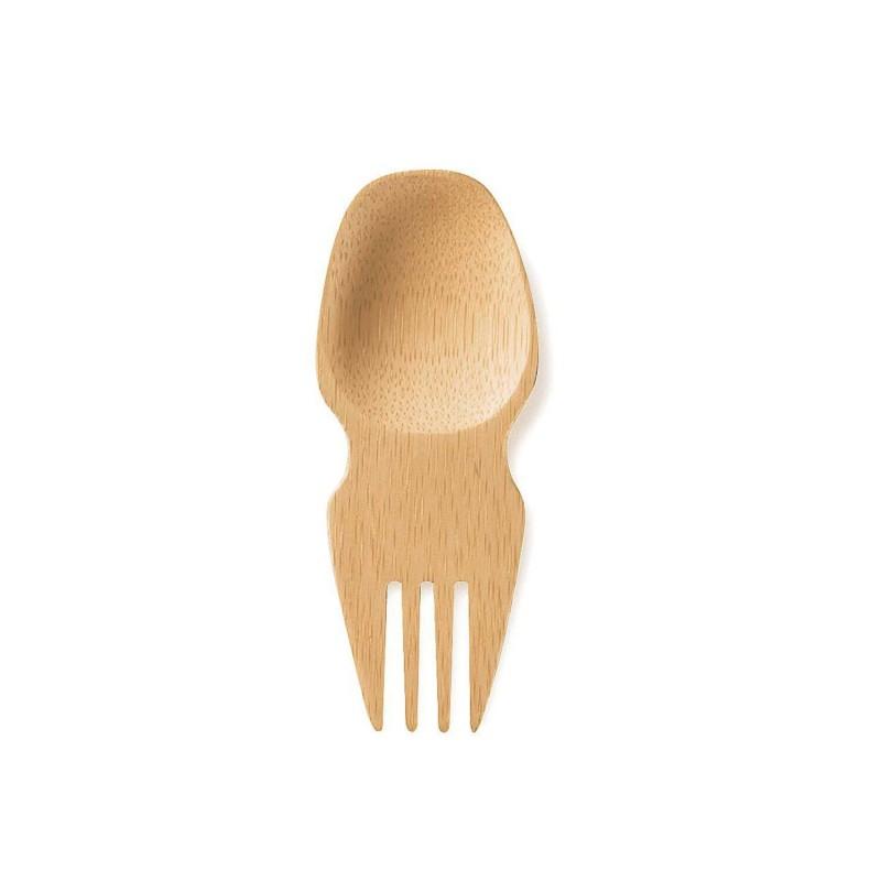 Cuchador, cuchara-tenedor de bambú