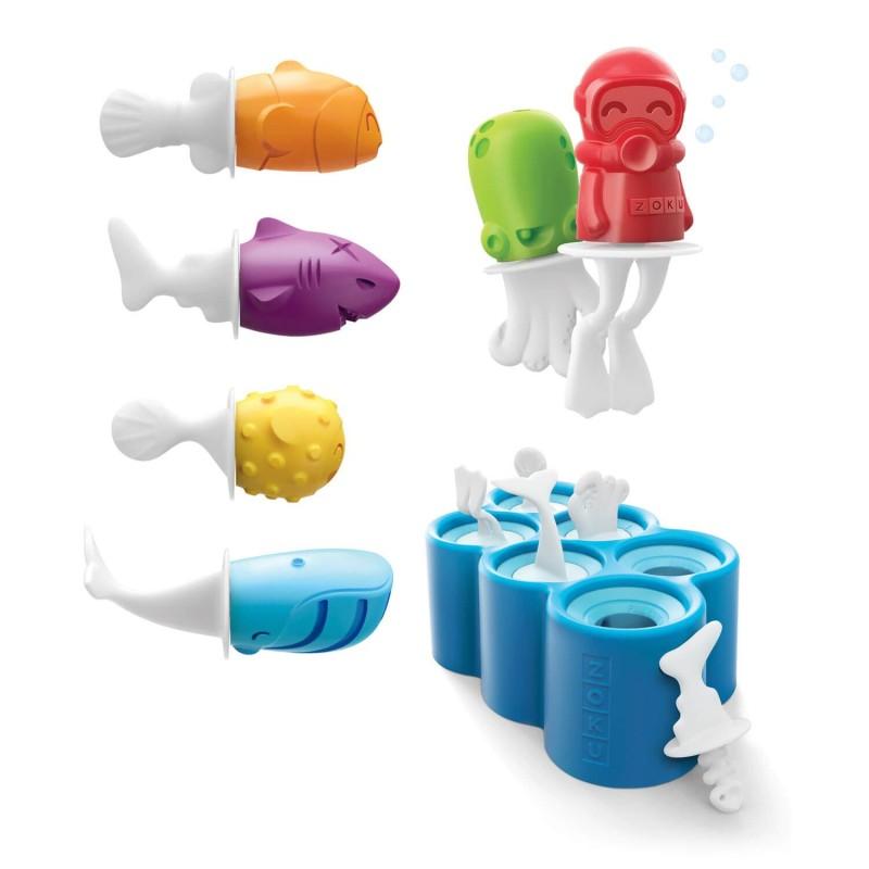 Set moldes de silicona para helados   Peces