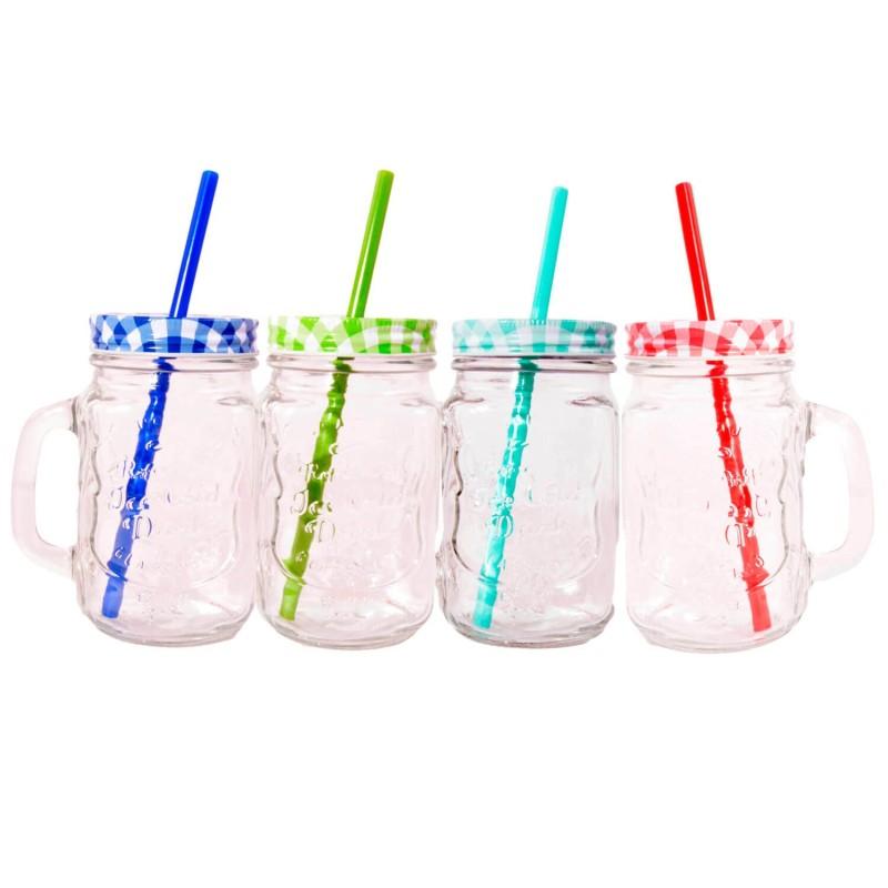 Pack 4 jarras para zumos y batidos